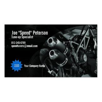 Tarjeta gris de la empresa de servicios de la moto plantillas de tarjetas de visita