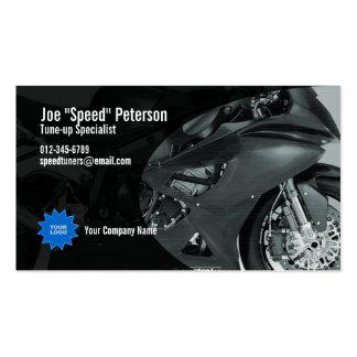 Tarjeta gris de la empresa de servicios de la moto tarjeta de visita