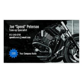 Tarjeta gris de la empresa de servicios de la moto tarjetas de visita