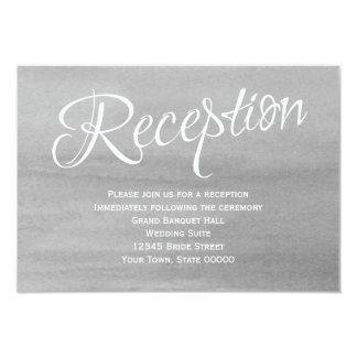 Tarjeta gris de la recepción nupcial de la invitación 8,9 x 12,7 cm