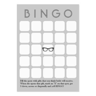 Tarjeta gris del bingo de los vidrios 5x5 del inco tarjeta personal