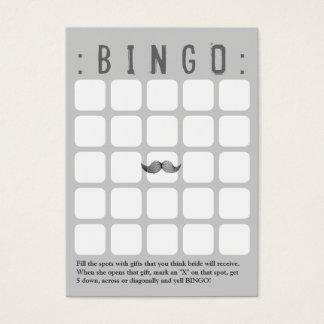 Tarjeta gris divertida del bingo del bigote 5x5