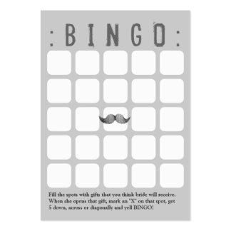 Tarjeta gris divertida del bingo del bigote 5x5 plantilla de tarjeta de visita