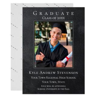 Tarjeta gris oscuro de la foto de la graduación