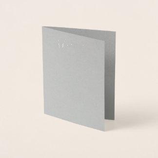 Tarjeta gris real del menú del boda del efecto
