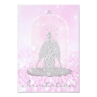 Tarjeta Gris rosado de Champán de las burbujas del vidrio