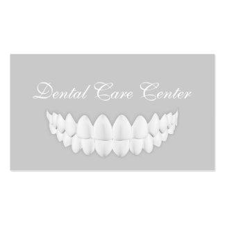 Tarjeta gris simple de la odontología de la tarjetas de visita