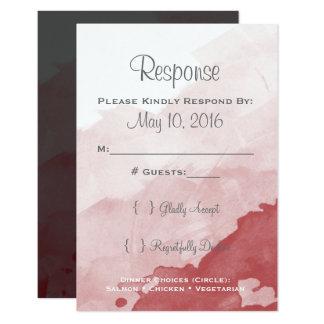 Tarjeta gris y marrón de Invitaion que se casa Invitación 8,9 X 12,7 Cm