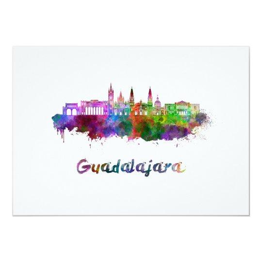 Tarjeta Guadalajara skyline in watercolor