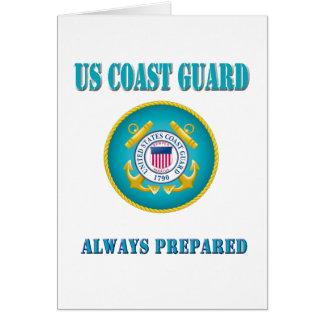 Tarjeta Guardacostas de los E.E.U.U. preparado siempre