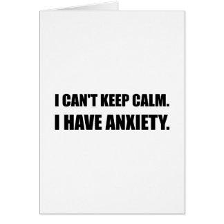 Tarjeta Guarde la ansiedad tranquila