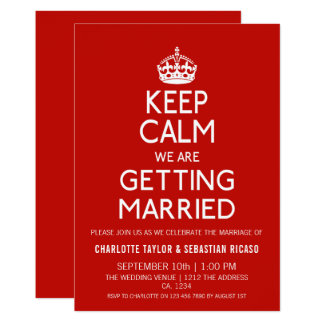 Tarjeta Guarde la calma que estamos consiguiendo casados -