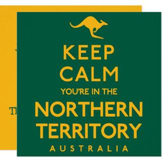 Tarjeta ¡Guarde la calma que usted está en el Territorio