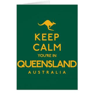Tarjeta ¡Guarde la calma que usted está en Queensland!