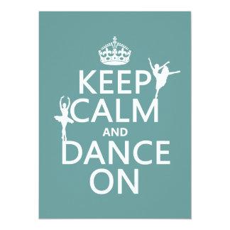 Tarjeta Guarde la calma y baile en (ballet) (todos los