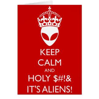Tarjeta ¡Guarde $# tranquilo y santo! ¡Y es extranjeros!