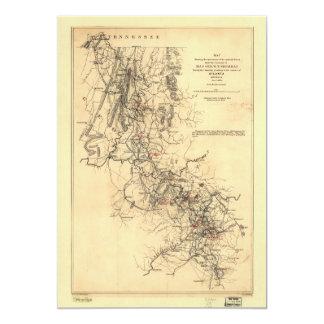 Tarjeta Guerra civil Atlanta campaña mapa 1 de septiembre