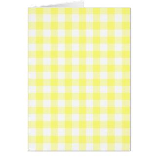 Tarjeta Guinga amarillo claro