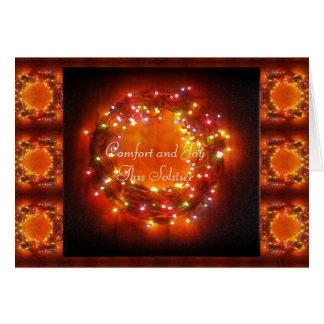 Tarjeta Guirnalda de las luces del Faery del solsticio de