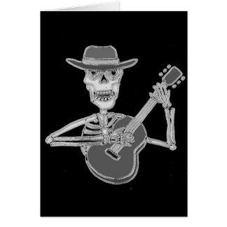 Tarjeta Guitarra que juega esquelética artsy fresca