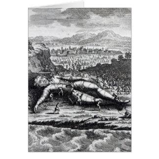 Tarjeta Gulliver capturó por los Lilliputians