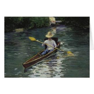 Tarjeta Gustave Caillebotte - canoa en el Yerres