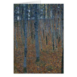 Tarjeta Gustavo Klimt - arboleda de la haya. Fauna de la