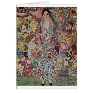 Tarjeta Gustavo Klimt - arte de la cerveza de Fredericke
