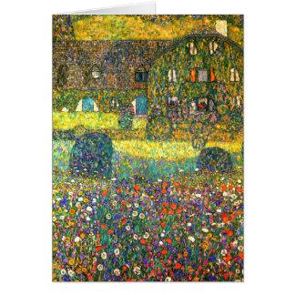 Tarjeta Gustavo Klimt: Casa de campo en el Attersee