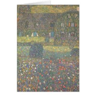 Tarjeta Gustavo Klimt - casa de campo por el arte de