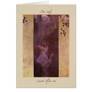 Tarjeta Gustavo Klimt el amor 1895