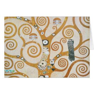 Tarjeta Gustavo Klimt el árbol del arte Nouveau de la vida