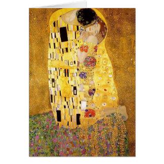 Tarjeta Gustavo Klimt- el beso