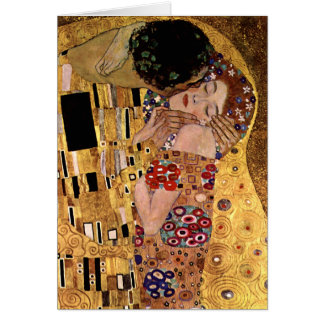 Tarjeta Gustavo Klimt: El beso (detalle)