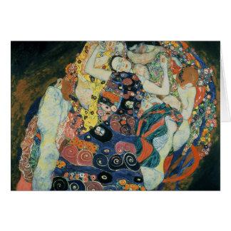 """Tarjeta Gustavo Klimt: """"el virginal """""""
