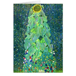 Tarjeta Gustavo Klimt: Girasol