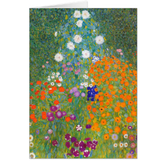 Tarjeta Gustavo Klimt: Jardín de flores