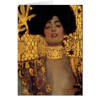 Tarjeta Gustavo Klimt Judith y el jefe de Holofernes