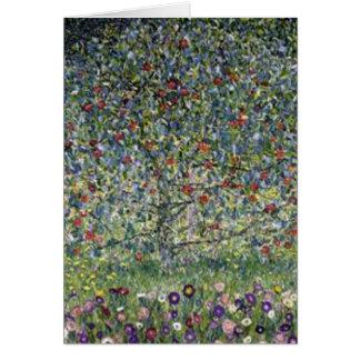 Tarjeta Gustavo Klimt - pintura del manzano
