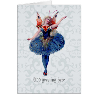 Tarjeta Hada bonita de la bailarina - bella arte delicada