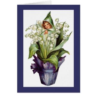 Tarjeta Hada de la flor del lirio de los valles del
