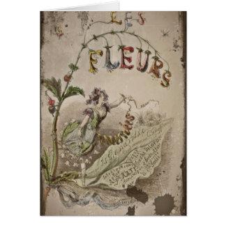 Tarjeta Hada francesa de la flor