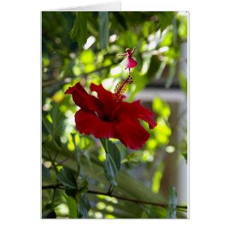 Tarjeta Hada marrón de la sombra del hibisco