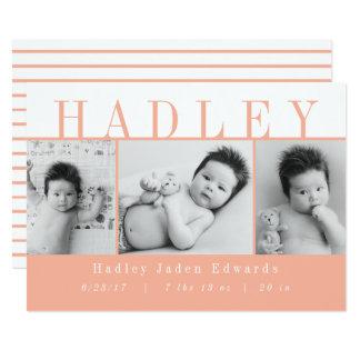 TARJETA HADLEY-PEACH