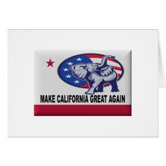 Tarjeta Haga California grande otra vez