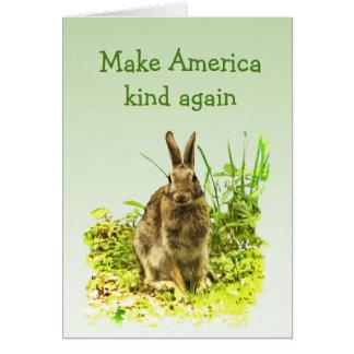 Tarjeta Haga conejo de conejito de la clase de América