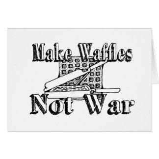 Tarjeta HAGA las GALLETAS, no guerra
