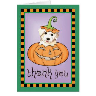 Tarjeta Halloween Bichon le agradece