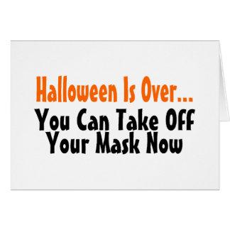 Tarjeta Halloween está sobre usted puede ahora sacar su