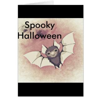 Tarjeta Halloween fantasmagórico